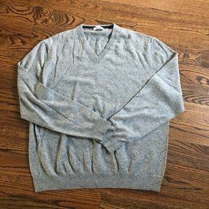 PIATTELLI 100% Cashmere V-neck Sweater XXL